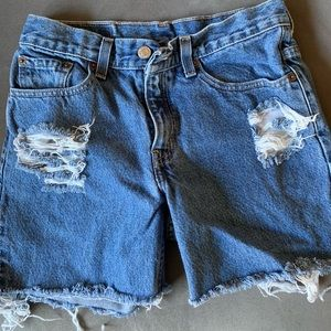 Levi Cutoff Denim Shorts